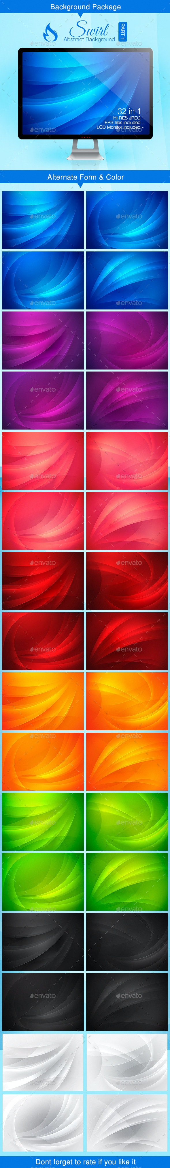 Swirl Abstract Background - Part 1 - Backgrounds Decorative