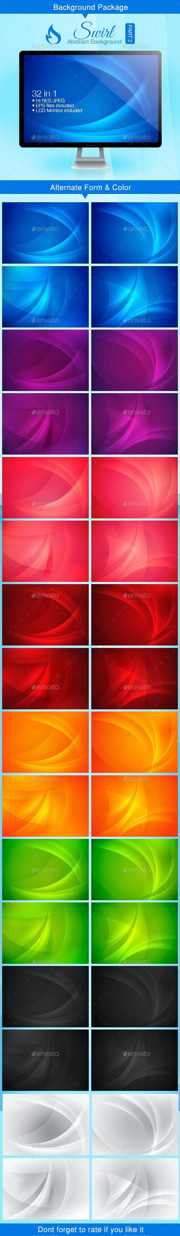 Swirl Abstract Background - Part 2 - Backgrounds Decorative