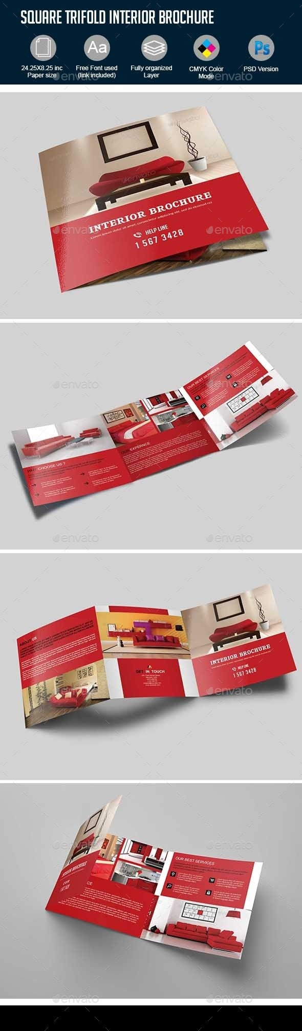 Squire Trifold Interior Brochure - Corporate Brochures