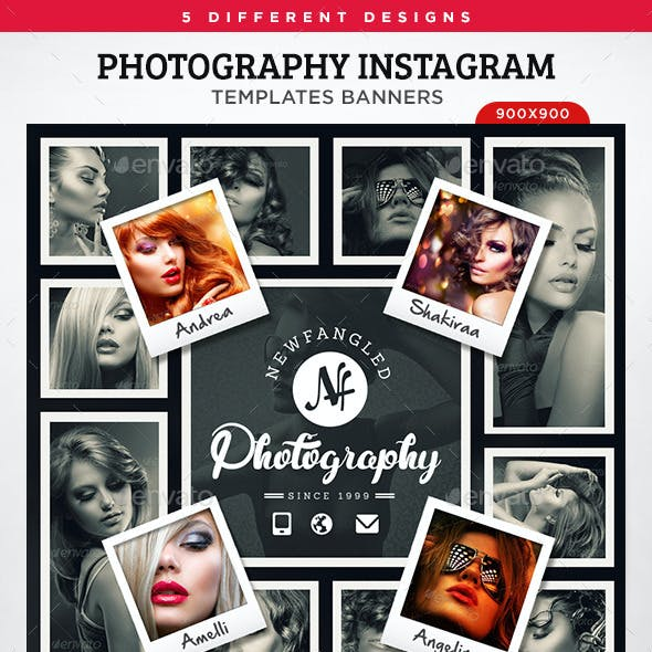 Photography Instagram Templates - 5 Designs