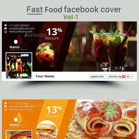 Fast Food Facebook Cover Vol-1