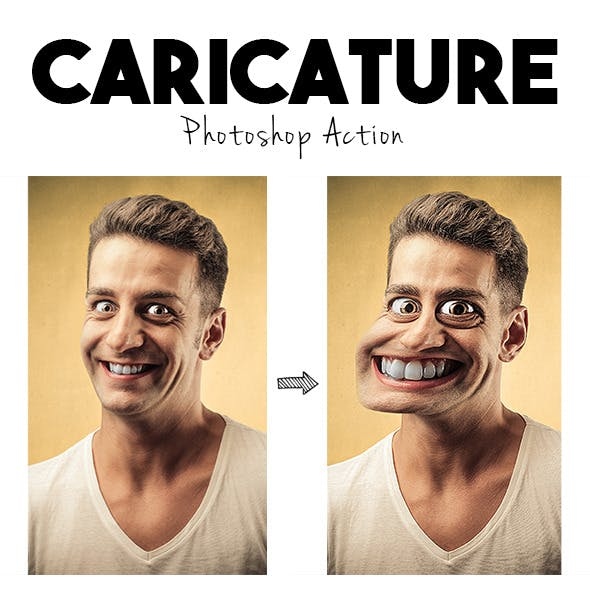 Caricature Photoshop Action