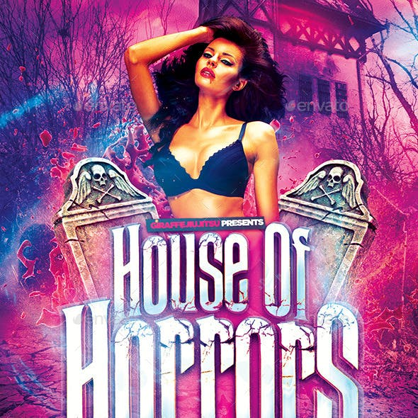House of Horrors Flyer Template