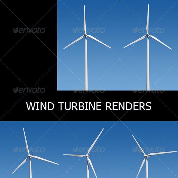 Wind Turbine Renders Set