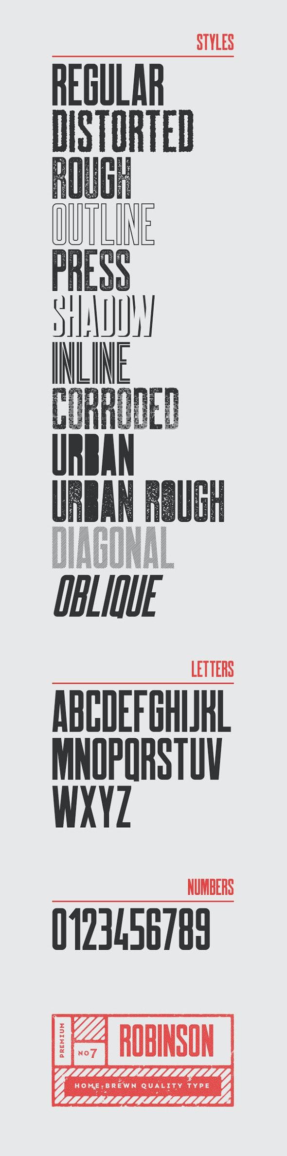 Robinson Typeface - Sans-Serif Fonts