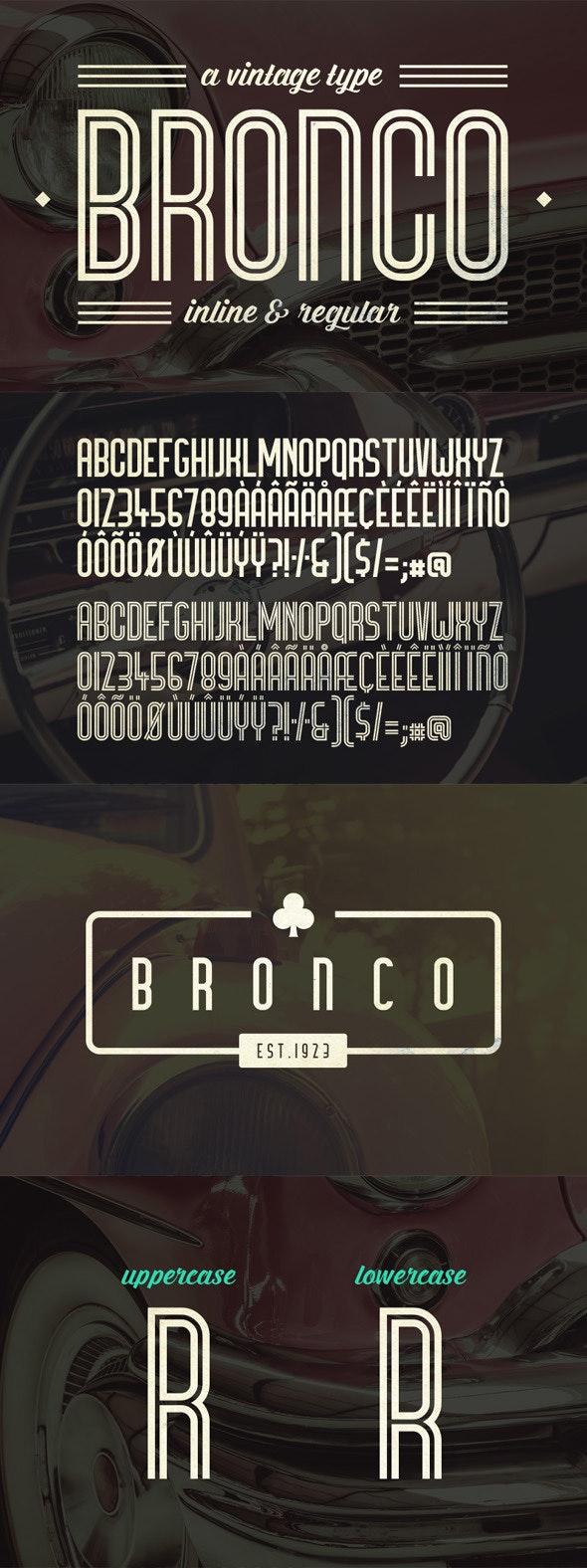 Bronco Typeface - Decorative Fonts
