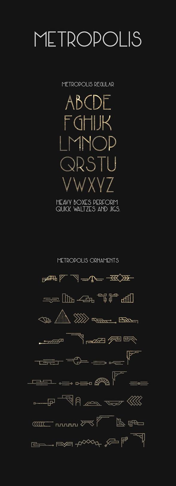 Metropolis Typeface - Decorative Fonts
