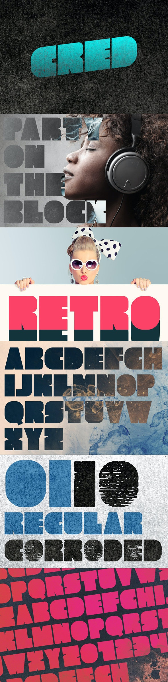 Cred Typeface - Grunge Decorative