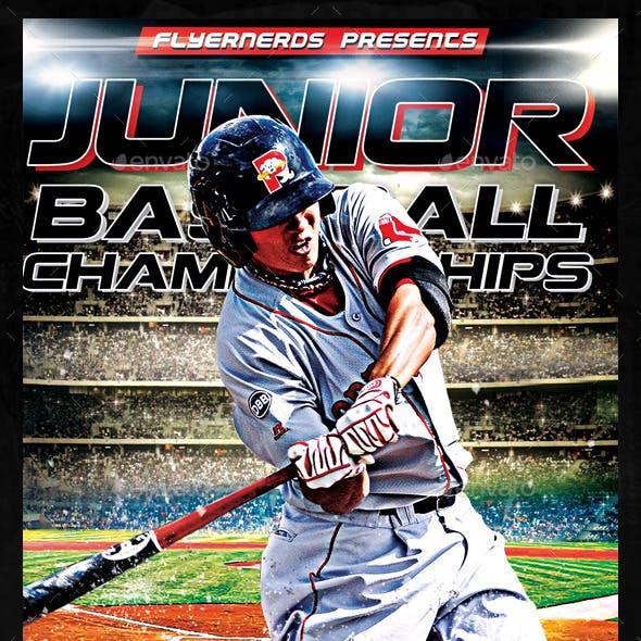 Junior Baseball Champioships Sports Flyer