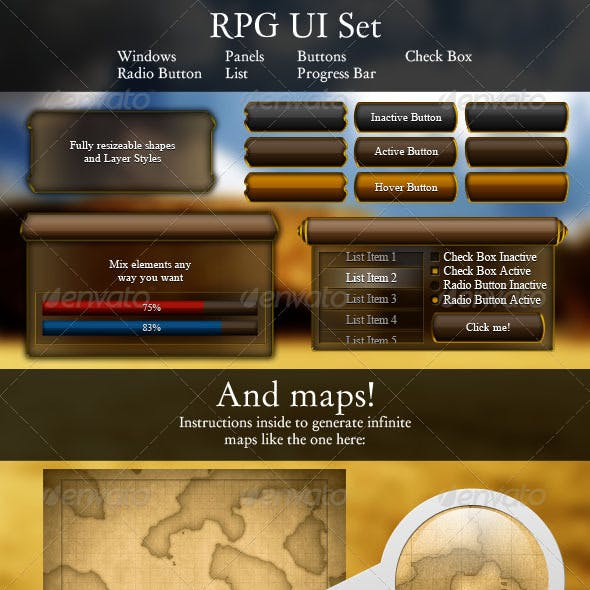 RPG UI Set