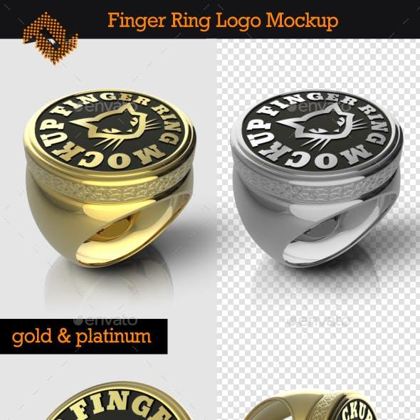 Finger Ring Logo Mockup