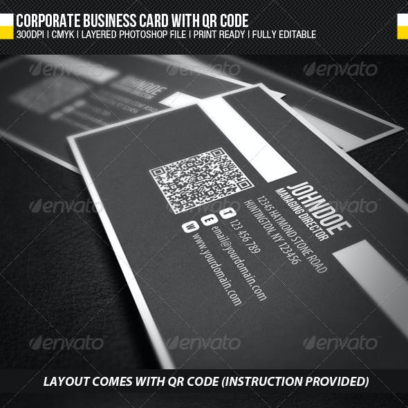 Corporate Business Card with QR Code