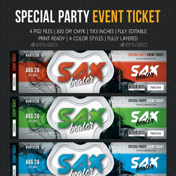 Special Party Event Ticket V09