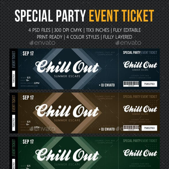 Special Party Event Ticket V10