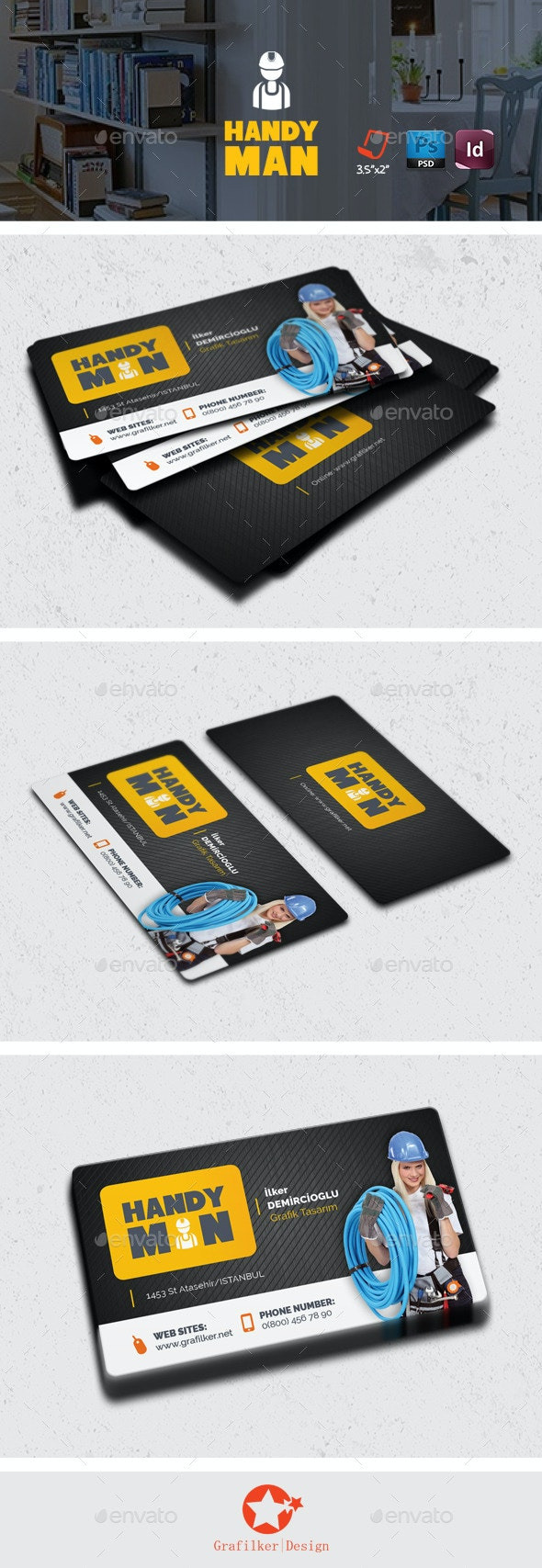 Handyman Business Card Templates - Corporate Business Cards