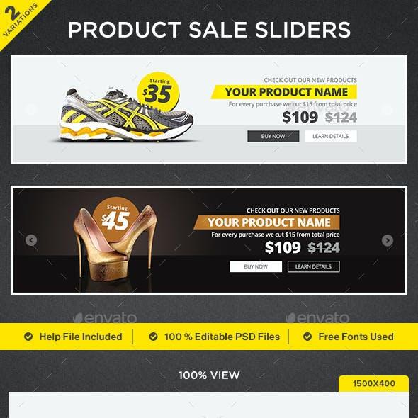 Product Sale Sliders - 2 Designs