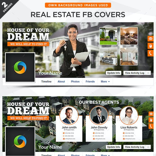 Real Estate Facebook Covers - 2 Designs