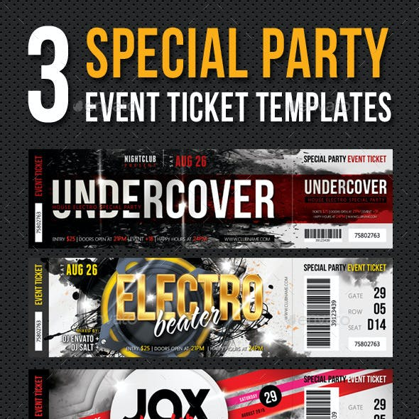3 in 1 Special Party Event Ticket Bundle V01