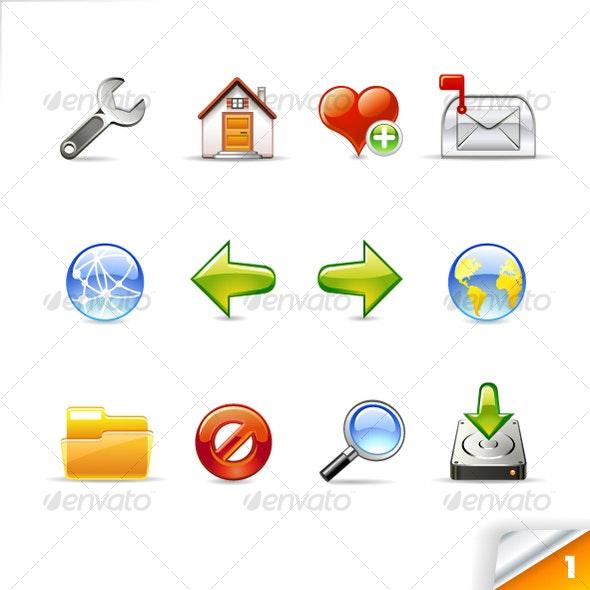 icon set n°1  - web theme - infinity series - Web Icons