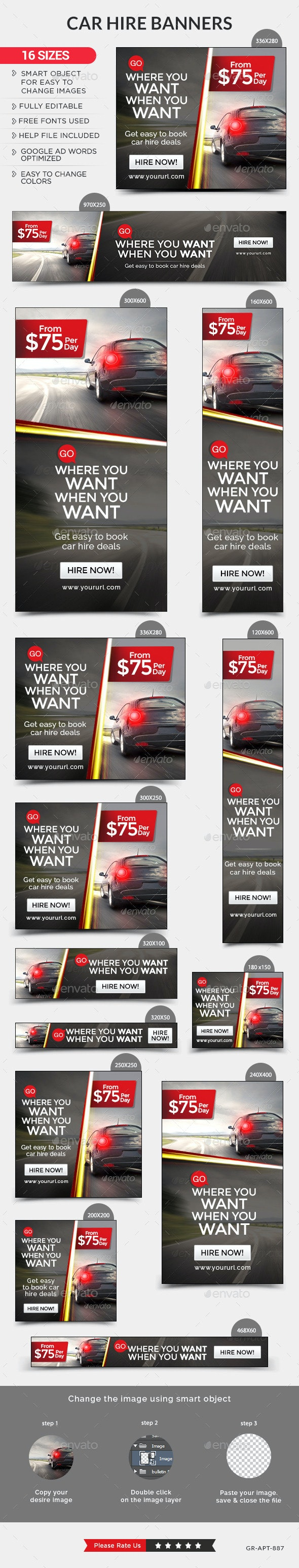 Car Rental Banners By Hyov Graphicriver
