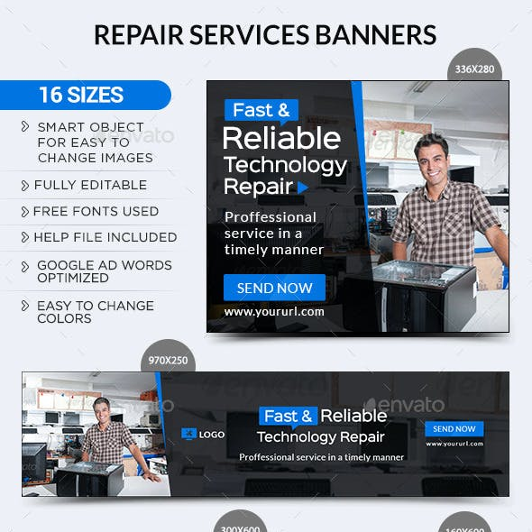 Repair Services Banners