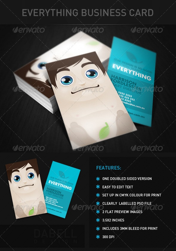 Everything Business Card - Creative Business Cards