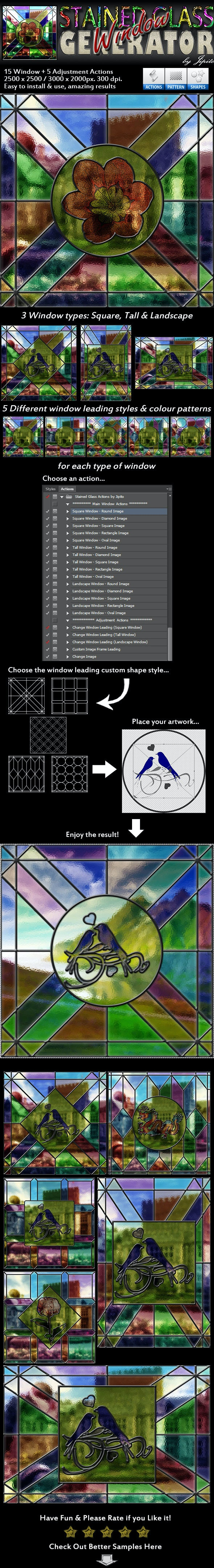 Stained Glass Window Generator - Utilities Actions