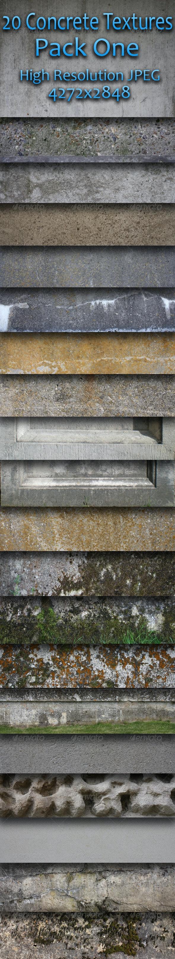 20 Concrete Textures - Pack One - Concrete Textures