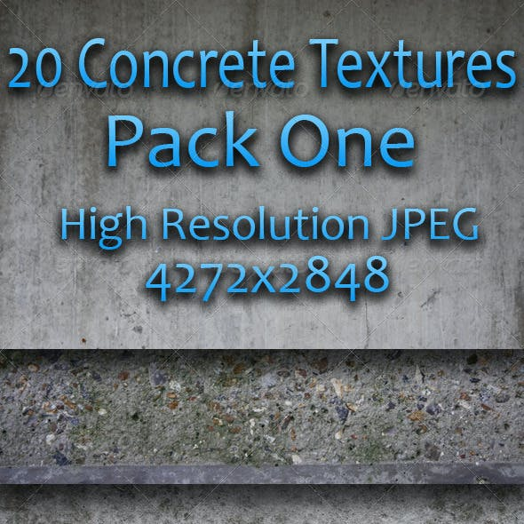 20 Concrete Textures - Pack One
