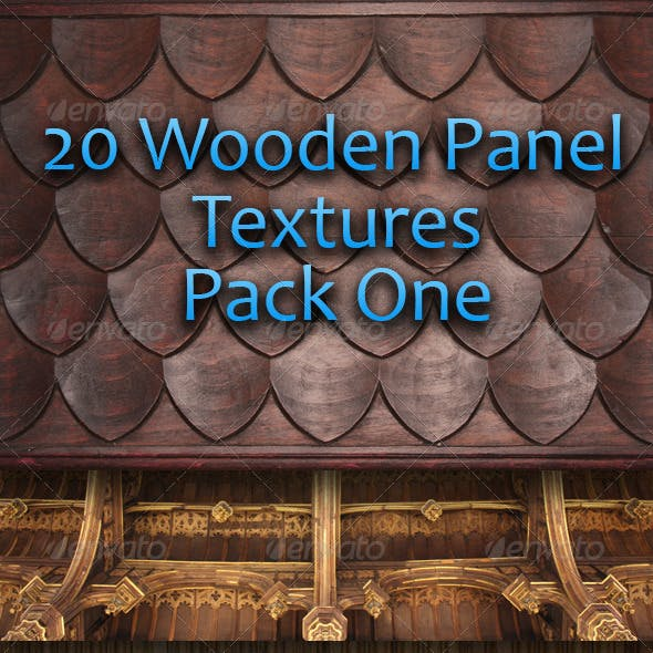 20 Wooden Panel Textures - Pack One