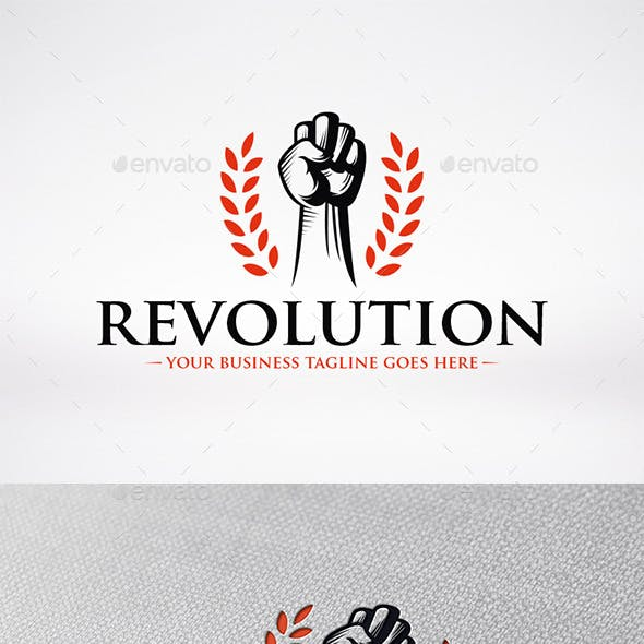 Revolution Fist Logo Template