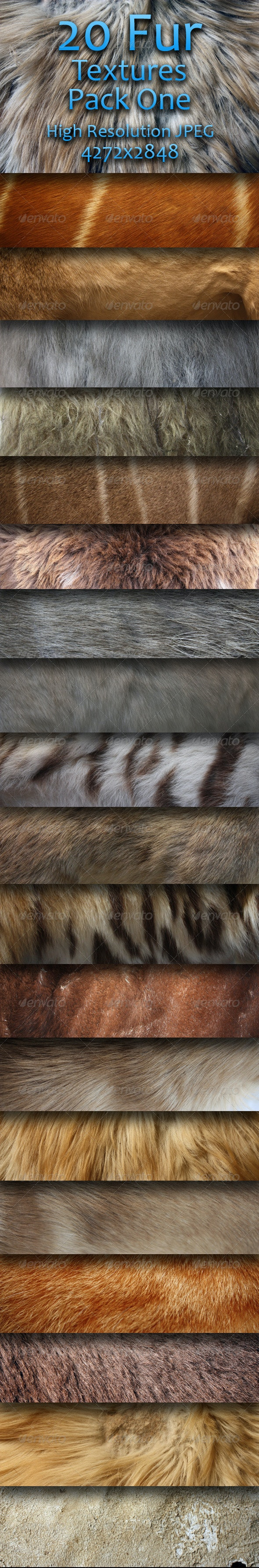 20 Fur Textures - Pack One - Miscellaneous Textures