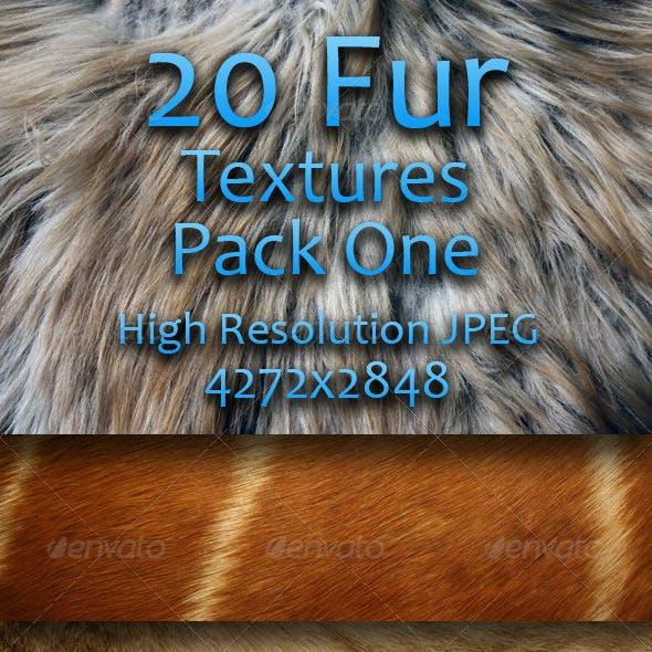 20 Fur Textures - Pack One