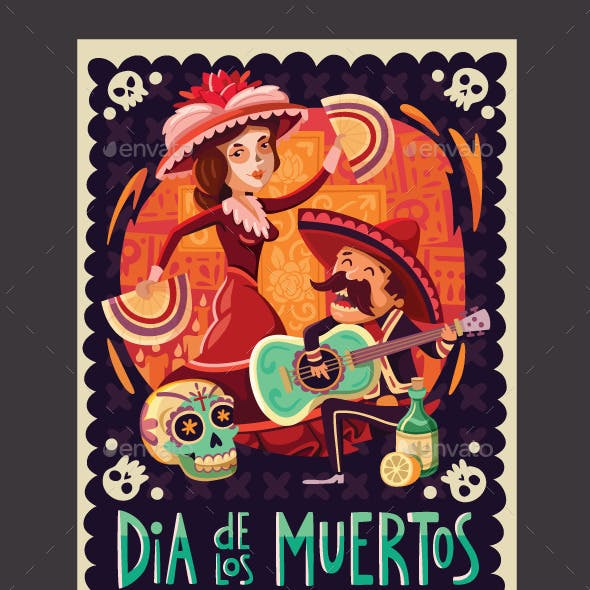 Invitation to the Day of the Dead Party