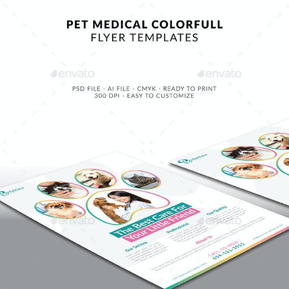 Pet Care Colorfull Flyer