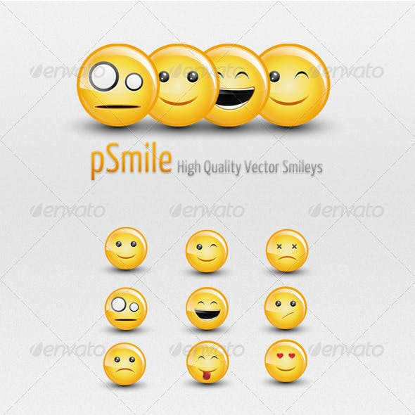 Smiles - Glossy Vector Smileys