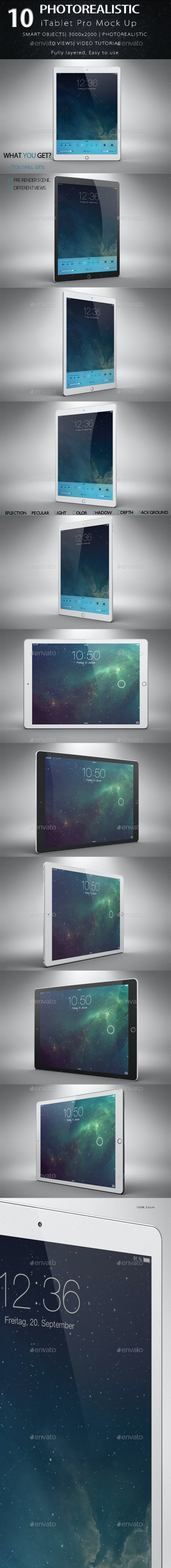 iTablet Pro Mock Up - Product Mock-Ups Graphics