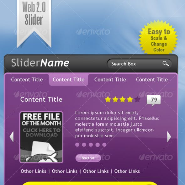 Multiple Use Web 2.0 Slider With Search Box