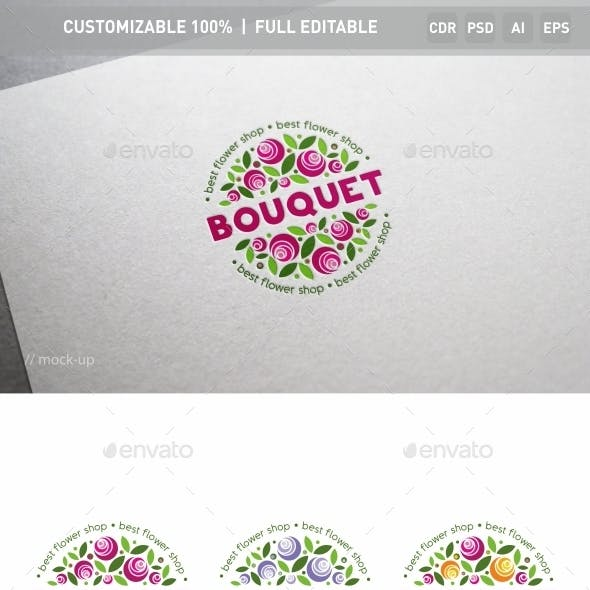 Bouquet of Flowers Logo Template