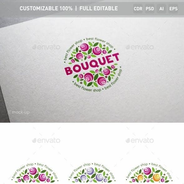 Bouquet of Flowers Logo Template