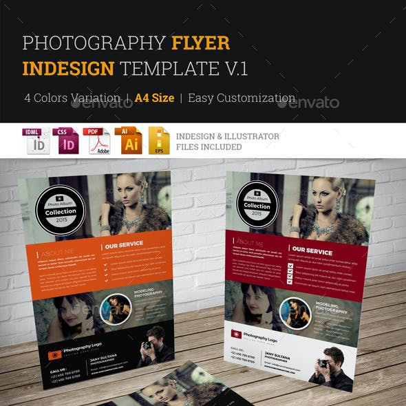 Photography Flyer InDesign Template