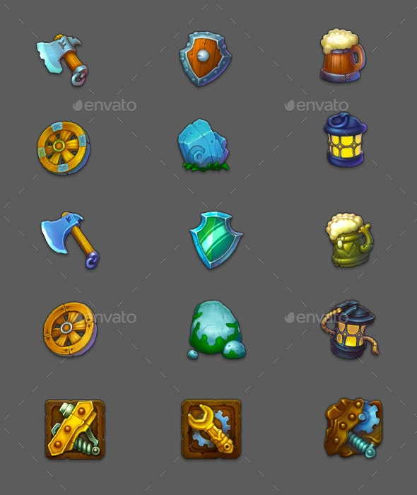 Game Icons - Miscellaneous Game Assets