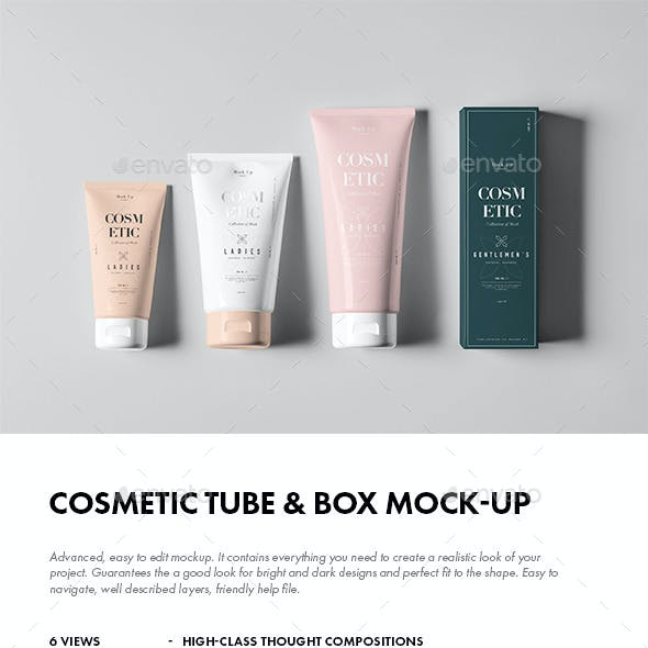 Cosmetic Tube & Box Mock-up