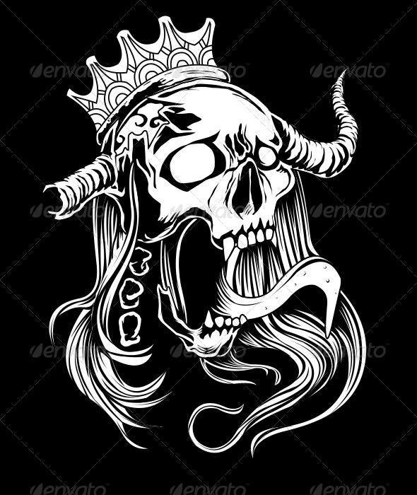 Queen Skull - Characters Vectors