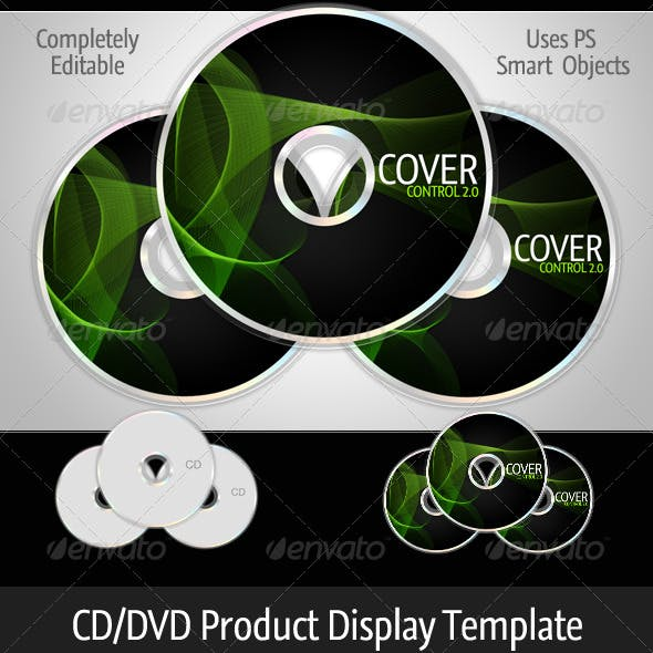 Cover Control CD/DVD Product Template