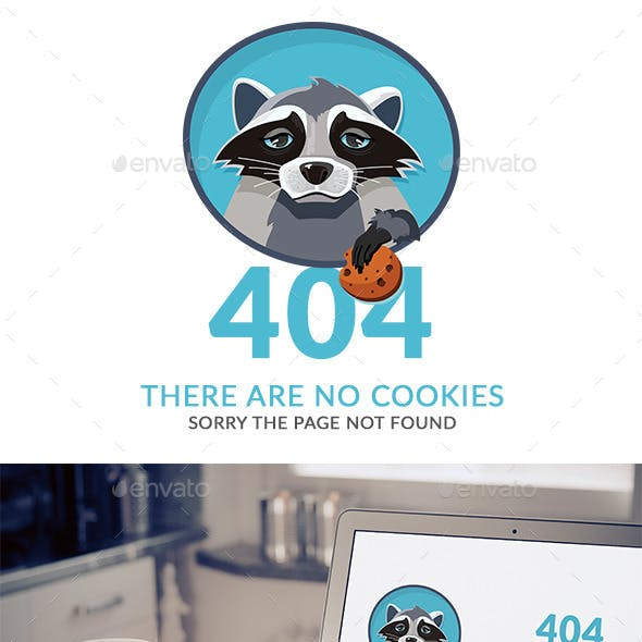 404 Error Raccoon