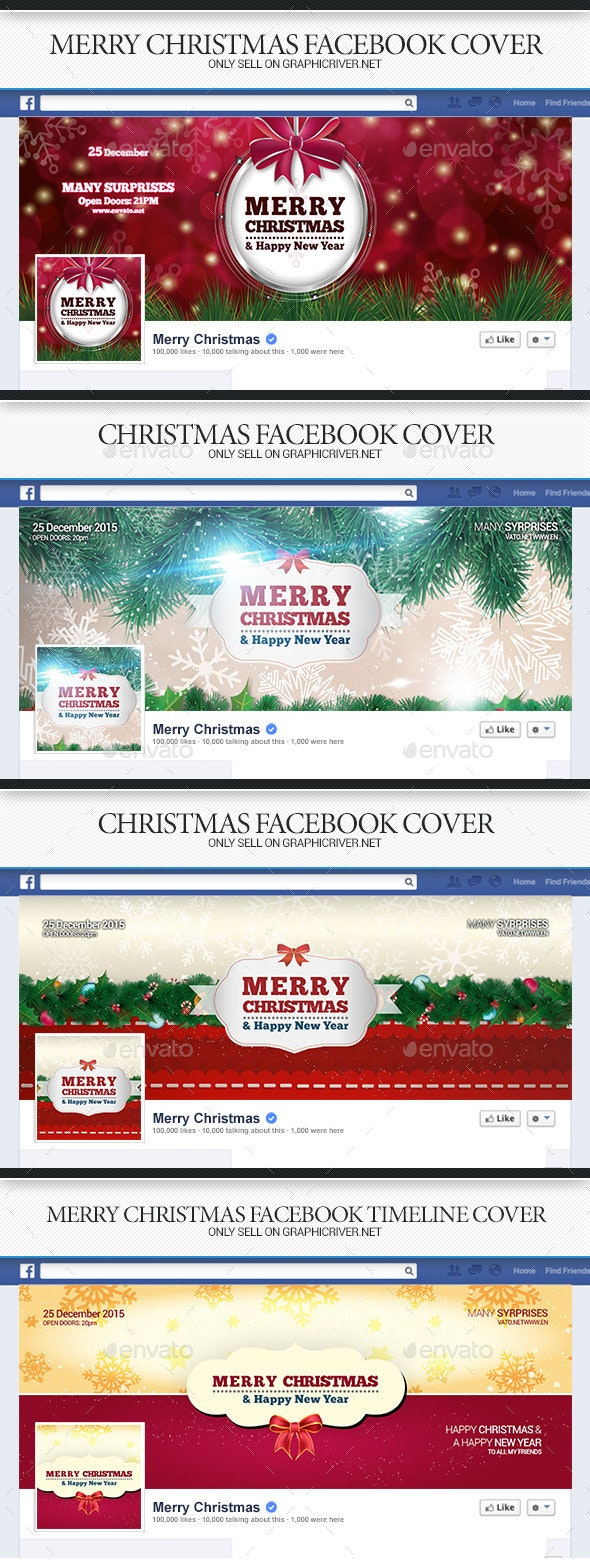 Christmas Facebook Covers Bundle - Facebook Timeline Covers Social Media