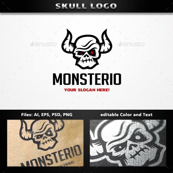Horned Skull Logo