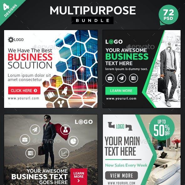 Multipurpose Banners Bundle - 4 Sets