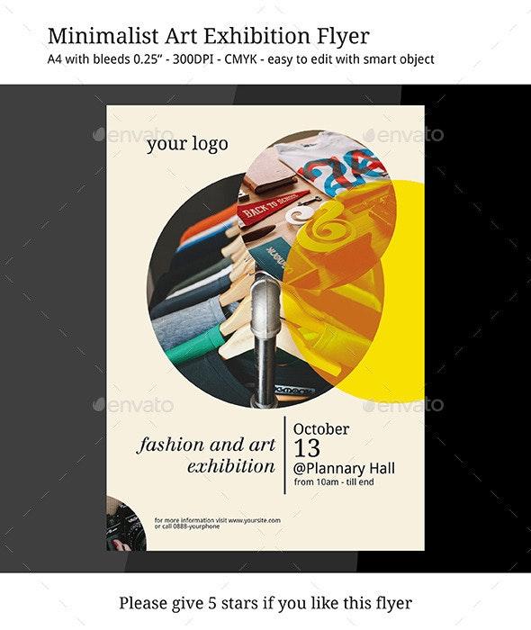Minimalist Art Exhibition Flyer - Events Flyers